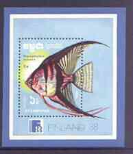 Kampuchea 1988 Finlandia 88 Stamp Exhibition (Fish) perf m/sheet unmounted mint, SG MS 914