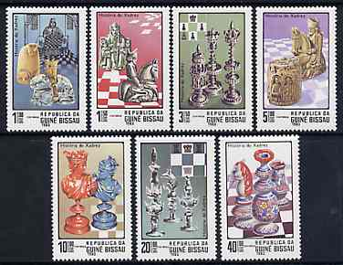 Guinea - Bissau 1983 Chess complete perf set of 7 unmounted mint SG 751-57