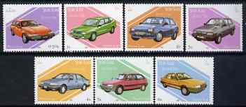 Laos 1987 Cars complete perf set of 7 unmounted mint, SG 996-1002