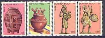 Burkina Faso 1985 Handicrafts complete perf set of 4 unmounted mint, SG 816-19