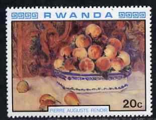 Rwanda 1980 Impressionist Paintings 20c Still Life by Renoir unmounted mint, SG 996