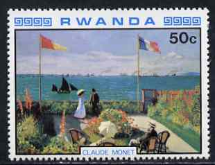 Rwanda 1980 Impressionist Paintings 50c Seaside Garden by Monet unmounted mint, SG 998
