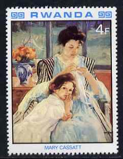 Rwanda 1980 Impressionist Paintings 4F Mother & Child by Mary Cassatt unmounted mint, SG 999