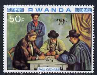 Rwanda 1980 Impressionist Paintings 50F The Card Players by Cezanne unmounted mint, SG 1002