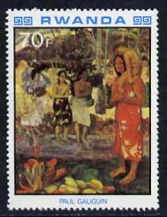 Rwanda 1980 Impressionist Paintings 70F Tahitian Girls by Gauguin unmounted mint, SG 1003