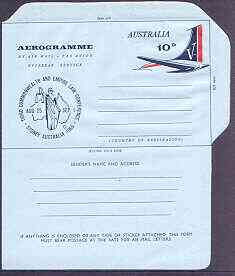 Australia 1965 Law Conference 10c Airletter form, unused and very fine  (folded once)