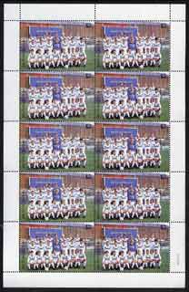 St Vincent 1987 English Football teams $2 Leeds United complete perf sheet of 10 unmounted mint SG 1097