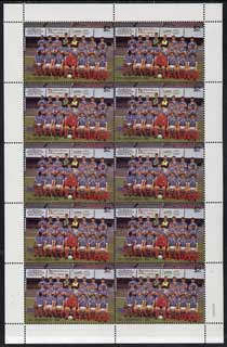 St Vincent 1987 English Football teams $2 Portsmouth complete perf sheet of 10 unmounted mint SG 1096