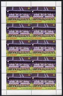 St Vincent 1987 English Football teams $2 Derby County complete perf sheet of 10 unmounted mint, SG 1095