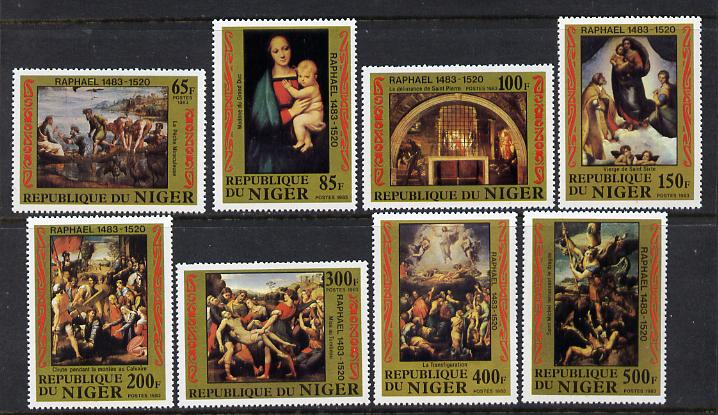 Niger Republic 1983 Birth Anniversary of Raphael set of 8 unmounted mint