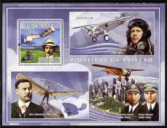 Guinea - Bissau 2008 Pioneers of Aviation perf souvenir sheet unmounted mint Michel BL 670