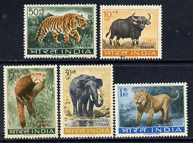India 1963 Wildlife set of 5 (SG 472-76) unmounted mint