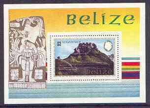 Belize 1983 Maya Monuments m/sheet (Xunantunich) perf unmounted mint, SG MS 751