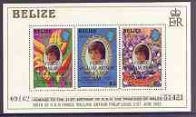 Belize 1982 Birth of Prince William m/sheet (1st series) unmounted mint SG MS 713