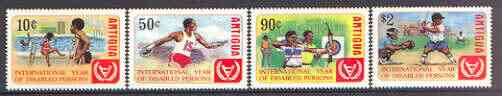 Antigua 1981 International Year of the Disabled set of 4 unmounted mint, SG 728-31