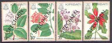 Kiribati 1981 Flowers perf set of 4 opt