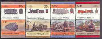 Tuvalu - Nanumaga 1985 Locomotives #1 (Leaders of the World) perf set of 8 unmounted mint