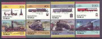 Tuvalu - Nukufetau 1986 Locomotives #2 (Leaders of the World) set of 8 unmounted mint