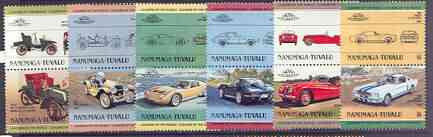 Tuvalu - Nanumaga 1984 Cars #1 (Leaders of the World) set of 12 unmounted mint