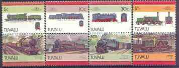 Tuvalu 1984 Locomotives #4 (Leaders of the World) set of 8 unmounted mint, SG 313-20