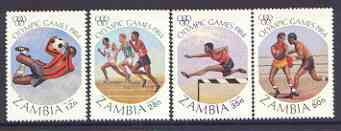 Zambia 1984 Los Angeles Olympic Games perf set of 4 unmounted mint, SG 408-11