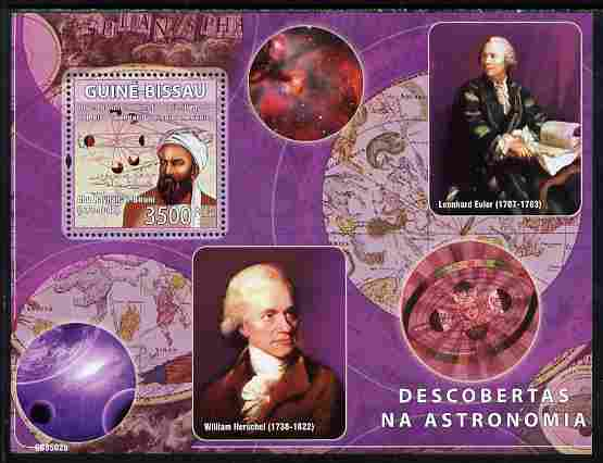 Guinea - Bissau 2008 Pioneers of Astronomy perf souvenir sheet unmounted mint Michel BL 671