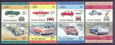 Tuvalu - Niutao 1984 Cars #1 (Leaders of the World) set of 8 unmounted mint
