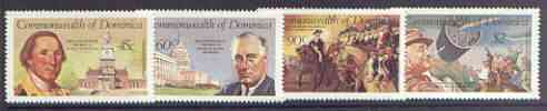 Dominica 1982 George Washington & F D Roosevelt perf set of 4 unmounted mint, SG 811-14
