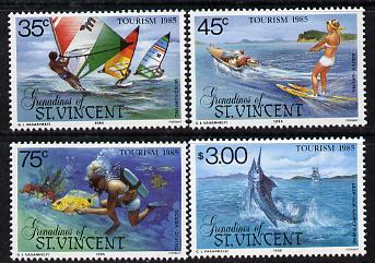 St Vincent - Grenadines 1985 Tourism Watersports set of 4 unmounted mint (SG 386-9)