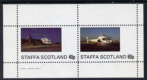 Staffa 1982 Helicopters #1 perf set of 2 values (40p & 60p) unmounted mint
