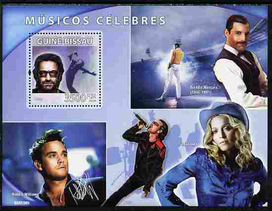 Guinea - Bissau 2008 Musical Celebrities perf souvenir sheet unmounted mint Michel BL 677
