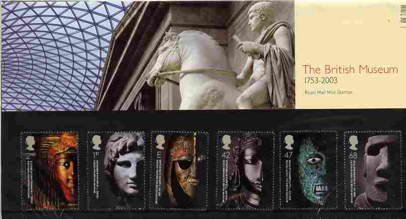 Great Britain 2003 Artefacts of the British Museum perf set of 6 in official presentation pack SG 2404-09