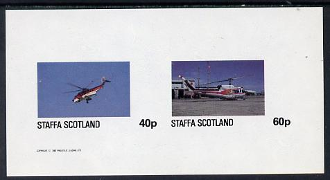 Staffa 1982 Helicopters #2 imperf set of 2 values (40p & 60p) unmounted mint