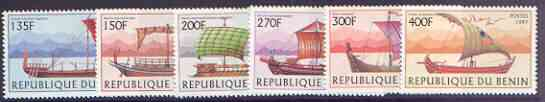 Benin 1997 Early Sailing Ships complete set of 6 values unmounted mint, SG 1666-71*