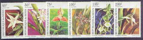 Benin 1995 Orchids perf set of 6, SG 1339-44 unmounted mint