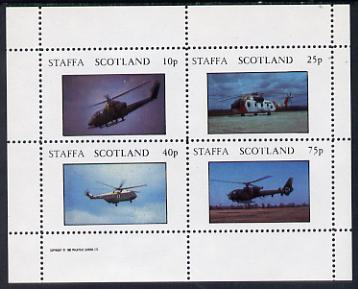 Staffa 1982 Helicopters #3 perf set of 4 values (10p to 75p) unmounted mint