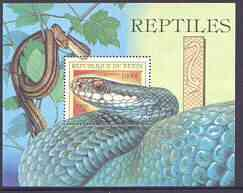 Benin 1999 Snakes perf m/sheet unmounted mint