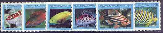 Benin 1997 Fish complete perf set of 6 values unmounted mint, SG 1673-78