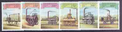 Benin 1999 Early Railway Locos complete perf set of 6 values unmounted mint