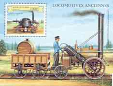 Benin 1999 Early Railway Locos perf m/sheet unmounted mint