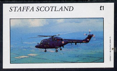 Staffa 1982 Helicopters #3 imperf souvenir sheet (�1 value) unmounted mint