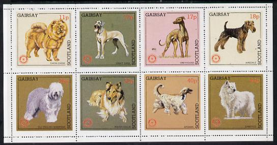 Gairsay 1984 Rotary -Dogs perf set of 8 values unmounted mint (11p to 44p)