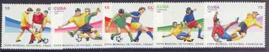 Cuba 1997 World Cup Football complete perf set of 5 values unmounted mint, SG 4153-57