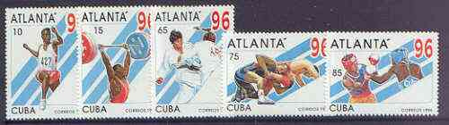Cuba 1996 Atlanta Olympic Games (2nd series) perf set of 5 unmounted mint, SG 4052-56