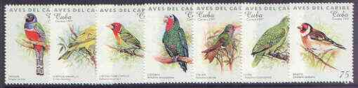 Cuba 1997 Carib Birds complete perf set of 7 values unmounted mint SG 4186-92