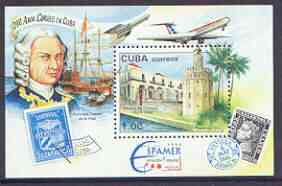 Cuba 1996 Espamer 96 Stamp Exhibition (Aircraft) perf m/sheet unmounted mint, SG MS 4062