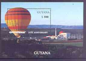 Guyana 1996 25th Anniversary of Greenpeace (Hot Air Balloons) perf m/sheet unmounted mint