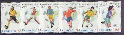 Sahara Republic 1996 France '98 Football World Cup complete perf set of 6 values unmounted mint