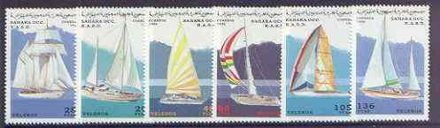 Sahara Republic 1996 Sailing Yachts perf set of 6 unmounted mint