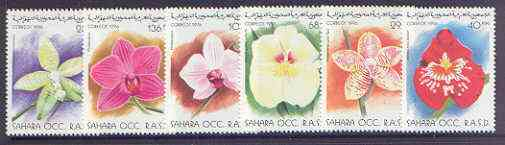 Sahara Republic 1996 Flowers perf set of 6 unmounted mint